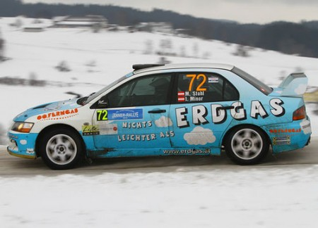 Manfred Stohl Mitsubishi Erdgas Rallye Auto