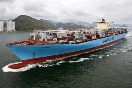 Rederei Maersk Frachtschiff