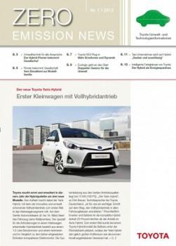 Zero Emission News Toyota 2012