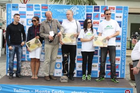 Electric Marathon Etappen Gewinner Preisverleihung