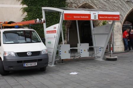EVN Solar Elektro Ladestation Wiener Neustadt Hauptplatz