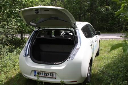 Nissan Leaf offener Kofferraum