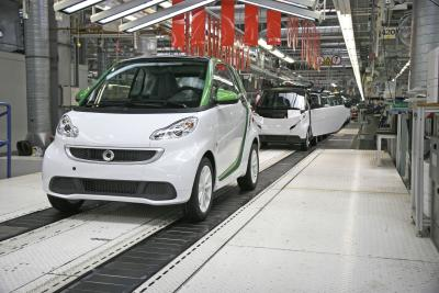 Produktionsstart neuer smart fortwo electric drive