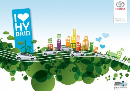 Toyota Hybrid Sommer Key Visual i love hybrid