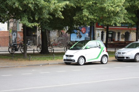 smart fortwo electric drive Berlin Tag und Nacht