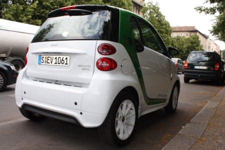 smart fortwo electric drive Rückansicht