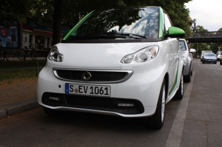 smart fortwo electric drive Berlins Straßen