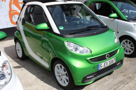 smart fortwo electric drive grün