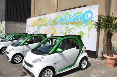 smart fortwo electric drive Graffiti Wand