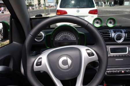 smart fortwo electric drive Fahrer Innenraum
