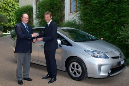 Fürst Albert von Monaco Toyota Prius Plug in Hybrid