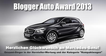 Blogger Auto Award 2013