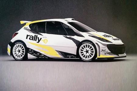 Peugeot 207 S2000 Rallye Auto Elektroantrieb rallye-e Stohl Racing