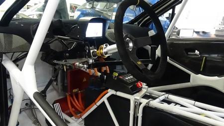 Peugeot rallye e Elektrorallyeauto Innenraum