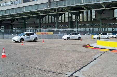 Elektroauto Konvoi Weltrekord 577 Formel E Berlin